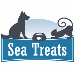 sea treats logo, pet snacks available from quistel