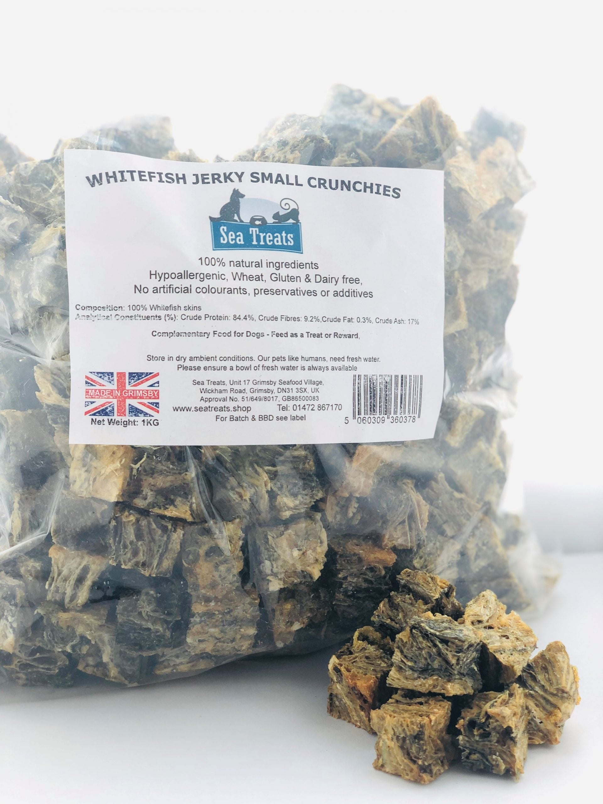 Whitefish Jerky Small Crunchies (1Kg)