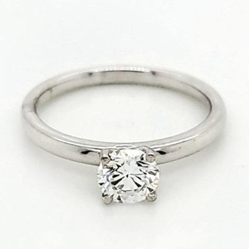 Zeghani Platinum 0.62 Round Diamond Solitaire Engagement Ring