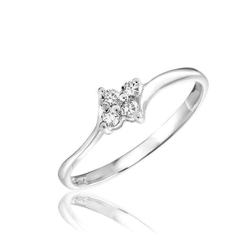 RNB 10K GOLD FLOWER DIAMOND RING