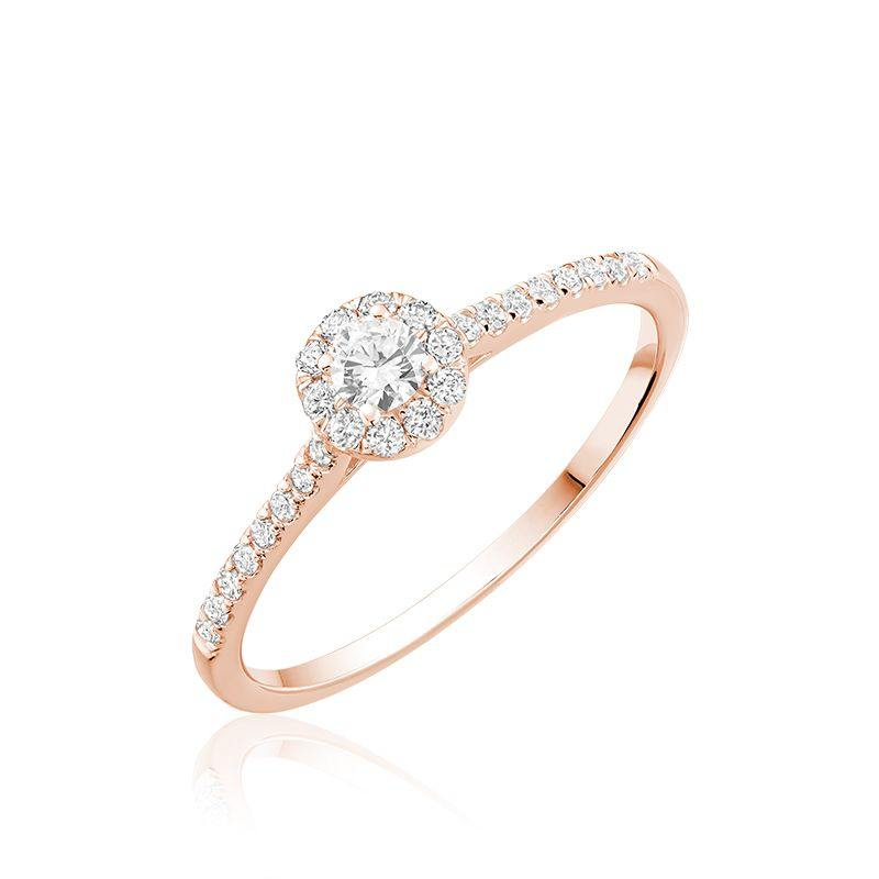 RNB 10K GOLD ROUND DIAMOND HALO ENGAGEMENT RING