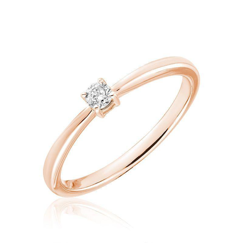 10K GOLD 0.15 ROUND DIAMOND SOLITAIRE ENGAGEMENT RING