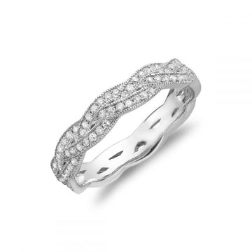 RNB 14K GOLD TWIST DIAMOND RING