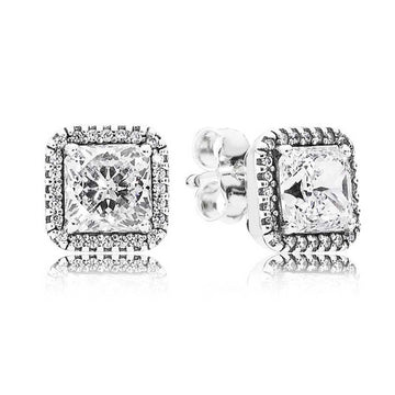 PANDORA SQUARE SPARKLE HALO STUD EARRINGS - Appelt's Diamonds