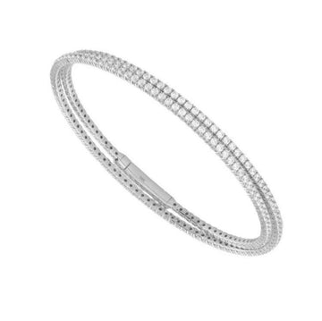 14K WHITE GOLD EMBRACE DIAMOND WRAP BRACELET - Appelt's Diamonds