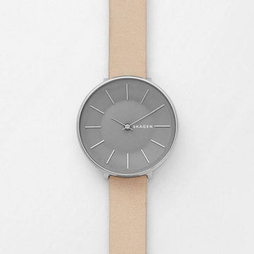SKAGEN KAROLINA NUDE NUBUCK LEATHER WATCH