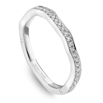 NOAM CARVER ATELIER 18K WHITE GOLD LADIES WEDDING BAND - Appelt's Diamonds