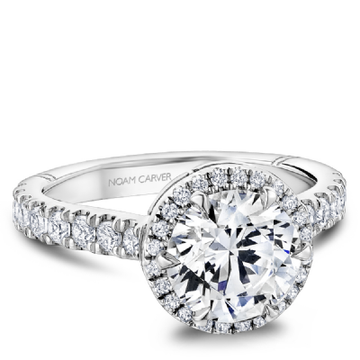 NOAM CARVER ATELIER 18K WHITE GOLD & DIAMOND ENGAGEMENT RING