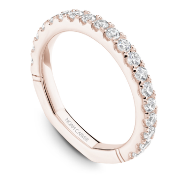 NOAM CARVER 18K ROSE GOLD LADIES WEDDING BAND