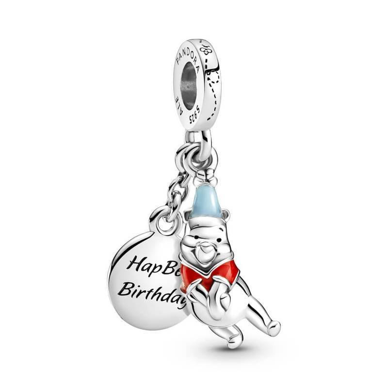 PANDORA DISNEY WINNIE THE POOH BIRTHDAY DANGLE CHARM - Appelt's Diamonds