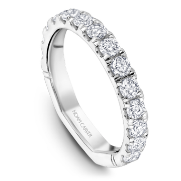 NOAM CARVER ATELIER 18K WHITE GOLD & DIAMOND LADIES WEDDING BAND