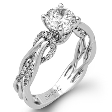 18K WHITE GOLD DIAMONDS ENGAGEMENT RING