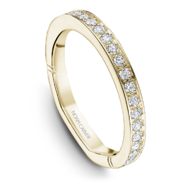NOAM CARVER 18KY YELLOW GOLD & DIAMOND LADIES WEDDING BAND