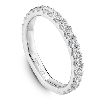 NOAM CARVER 18K WHITE GOLD LADIES WEDDING BAND