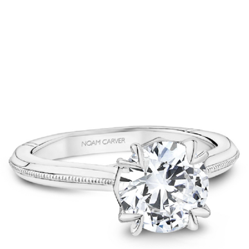 NOAM CARVER ATELIER 18K WHITE GOLD ENGAGEMENT RING