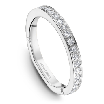 NOAM CARVER ATELIER 18K WHITE GOLD & DIAMOND LADIES BAND
