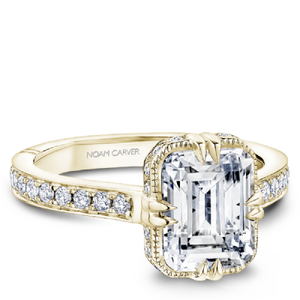 ATELIER YELLOW GOLD EMERALD CUT ENGAGEMENT RING