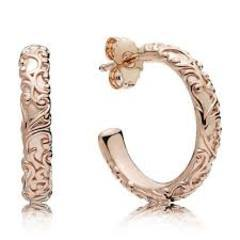 PANDORA ROSE EARRING REGAL BEAUTY HOOP