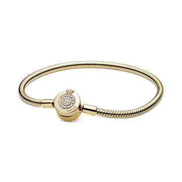 PANDORA SHINE MOMENTS SPARKLING CROWN O SNAKE CHAIN BRACELET