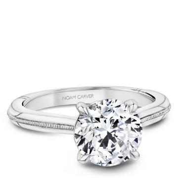 NOAM CARVER ATELIER PLATINUM & DIAMOND ENGAGEMENT RING