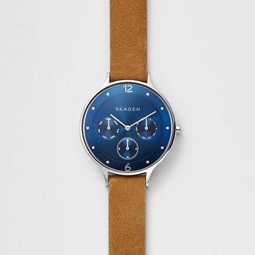 SKAGEN ANITA TAN LEATHER STRAP