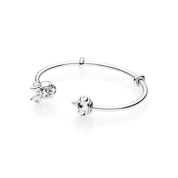 PANDORA DISNEY MICKEY & MINNIE OPEN BANGLE