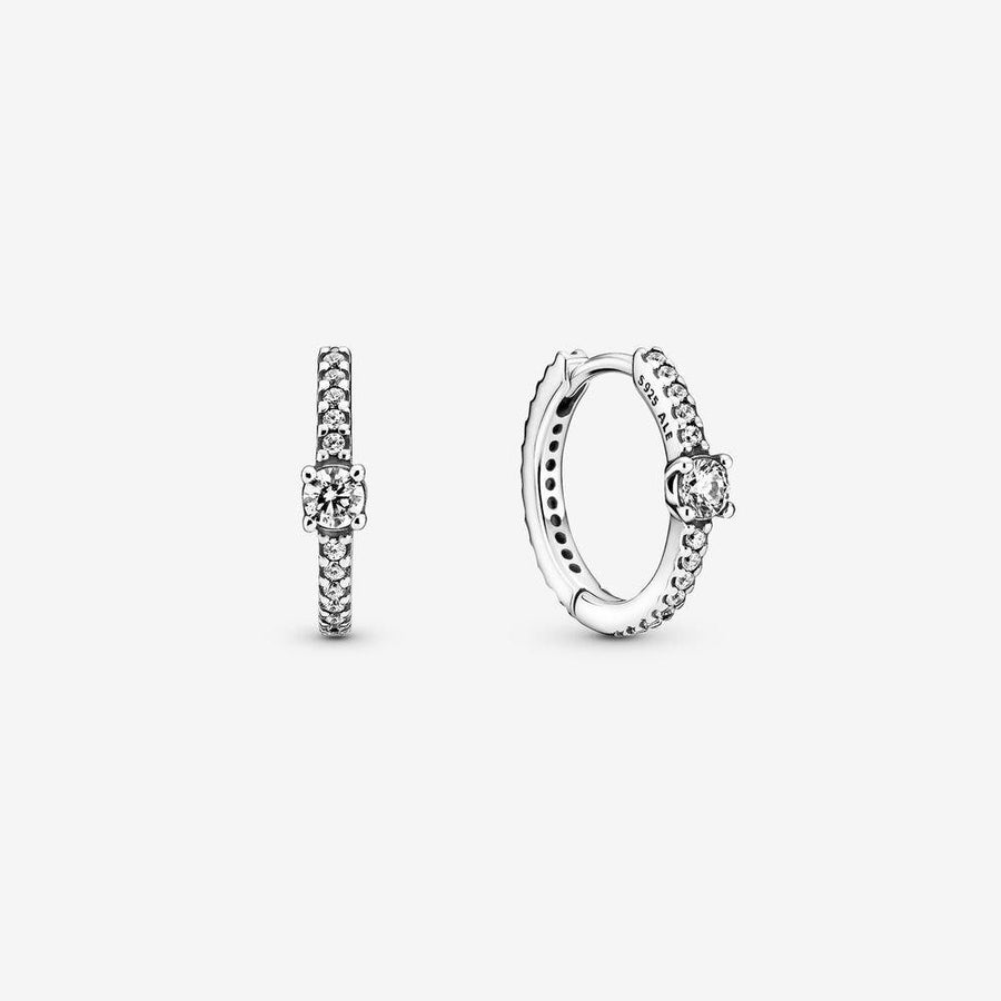 PANDORA SPARKLING HOOP EARRINGS - Appelt's Diamonds
