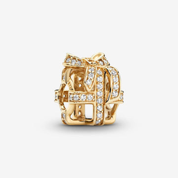 PANDORA 14K YELLOW GOLD ALL WRAPPED UP BEAD