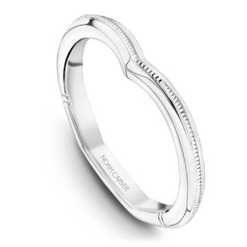 NOAM CARVER ATELIER 18K WHITE GOLD WEDDING BAND
