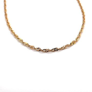 10K YELLOW GOLD SINGAPORE CHAIN