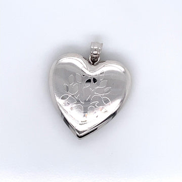 SILVER HEART SHAPED TREE LOCKET