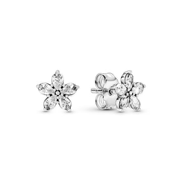 PANDORA SPARKLING SNOWFLAKE STUD EARRINGS