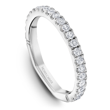 NOAM CARVER 18K WHITE GOLD & DIAMOND LADIES WEDDING BAND