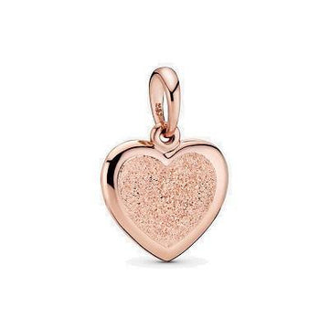 PANDORA ROSE MATTE BRILLIANCE HEART DANGLE