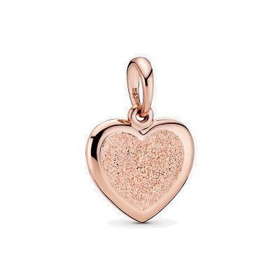 PANDORA ROSE MATTE BRILLIANCE HEART DANGLE - Appelt's Diamonds