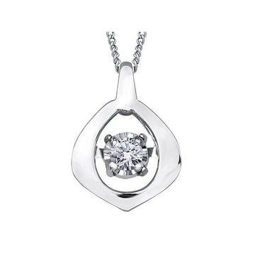 PULSE DIAMOND NECKLACE WITH WHITE GOLD AND DIAMOND CENTRE STONE