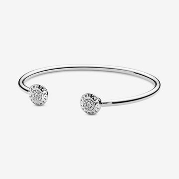 PANDORA LOGO PAVÉ OPEN BANGLE