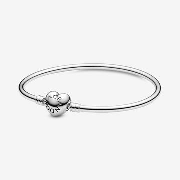 PANDORA BANGLE HEART CLASP