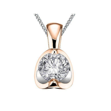 FOREVER JEWELLERY 10K ROSE AND WHITE GOLD DIAMOND NECKLACE