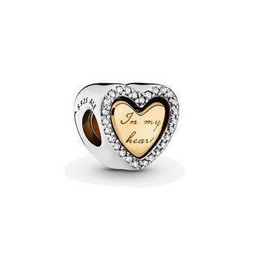 PANDORA SHINE IN MY HEART CZ BEAD