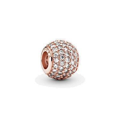 PANDORA ROSE  RGP PAVE LIGHTS CZ BEAD