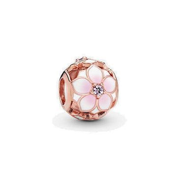 PANDORA ROSE  MAGNOLIA BLOOM PINK CRYSTAL & BEAD