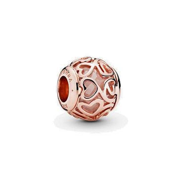 PANDORA ROSE HEARTS FILIGREE CZ BEAD