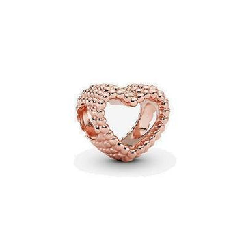 PANDORA ROSE  RGP BEADED HEART BEAD