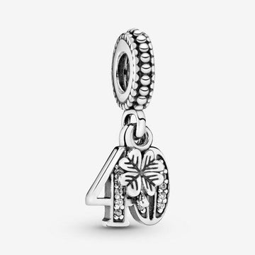 PANDORA  40 YEARS OF LOVE CZ DANGLE