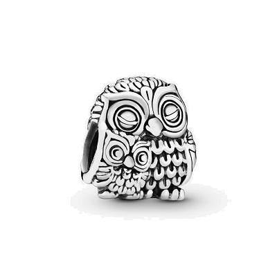 PANDORA  MOTHER OWL & BABY OWL CHARM
