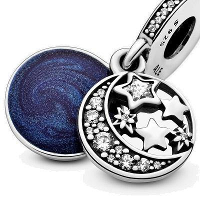 PANDORA MOON & BLUE SKY DANGLE CHARM - Appelt's Diamonds