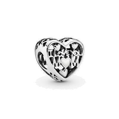 PANDORA  LOVE FOR MOTHER SILVER ENAMEL BEAD