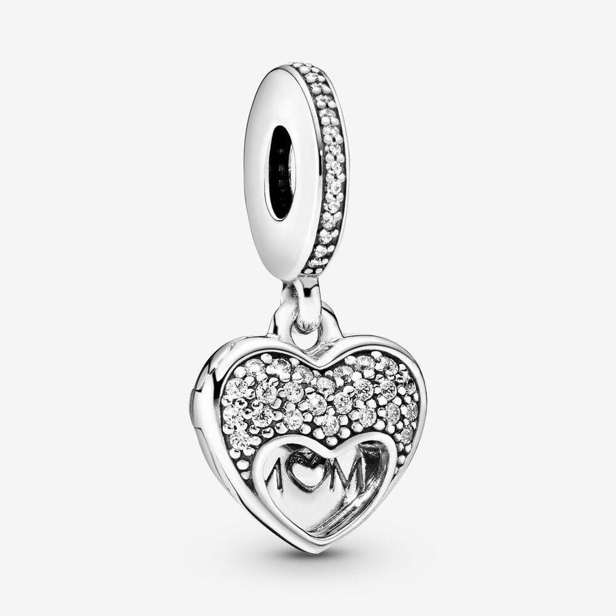 PANDORA I LOVE MY MOM HEART DANGLE