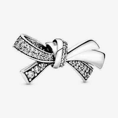 PANDORA  BRILLIANT BOW CZ CHARM